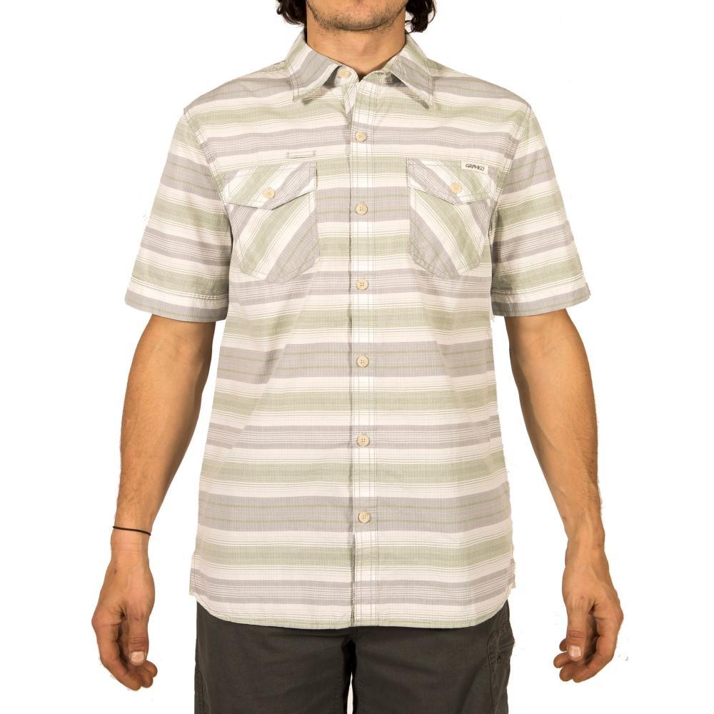 Gramicci Men's Link-Up Short Sleeve Shirt GREENERY
