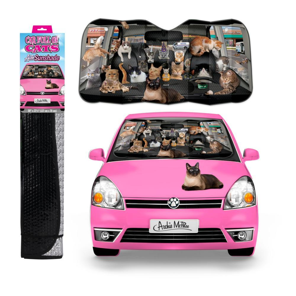 Archie Mcphee Car Full Of Cats Auto Sunshade