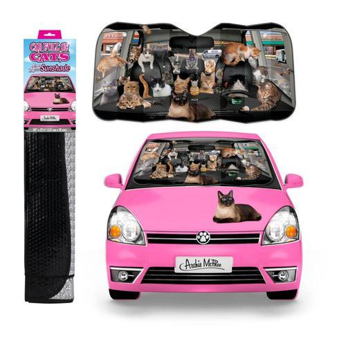 Archie McPhee Car Full of Cats Auto Sunshade