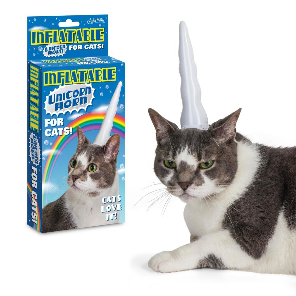 Archie McPhee Inflatable Unicorn Horn for Cats CAT