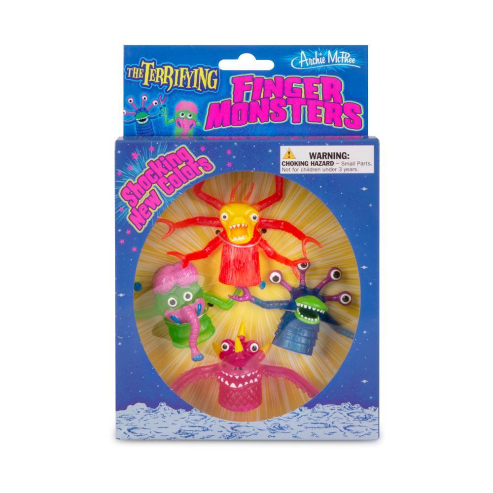 Archie McPhee Deluxe Finger Monster Boxed Set SETOF4
