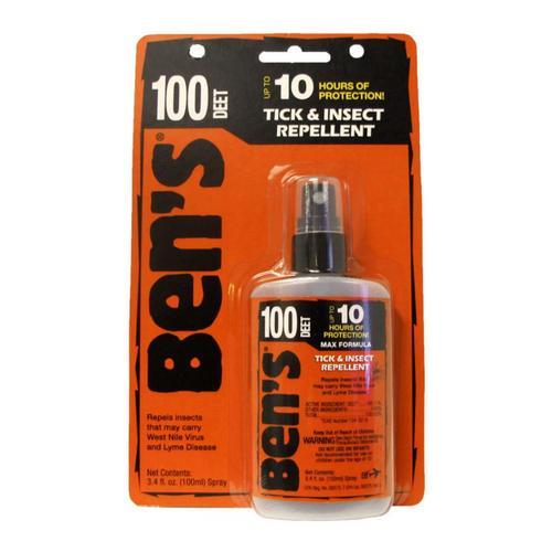 Ben's 100 Tick & Insect Repellent 3.4oz Pump .