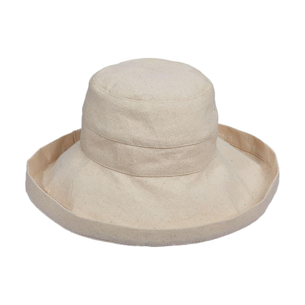 Dorfman Pacific Women's Big Brim Bucket Hat LINEN