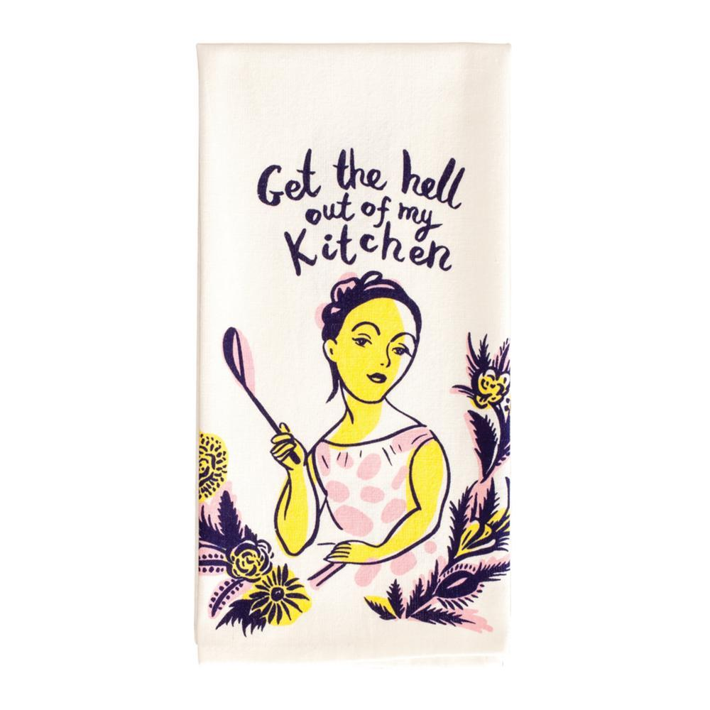 Blue Q Get The Hell Out Of My Kitchen Dish Towel GETTHEHELLOUT