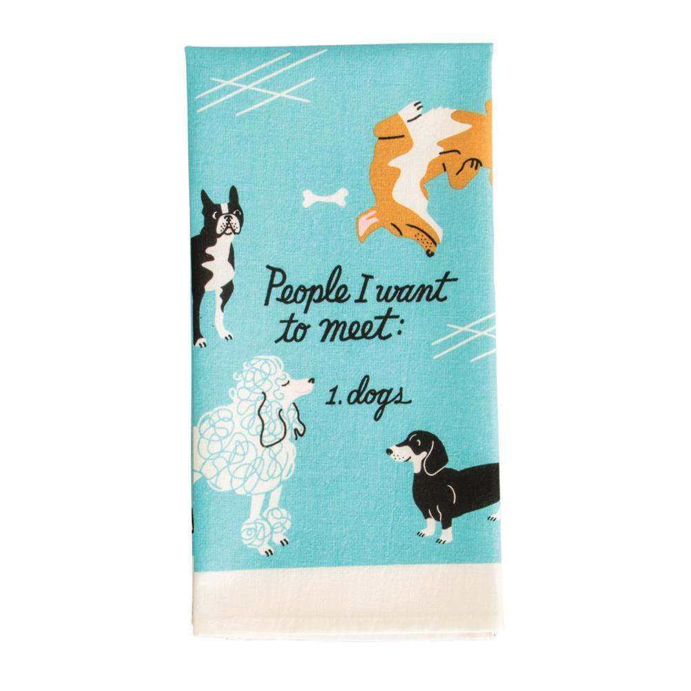 Blue Q People I Want To Meet: Dogs Dish Towel PEOPLETOMEET