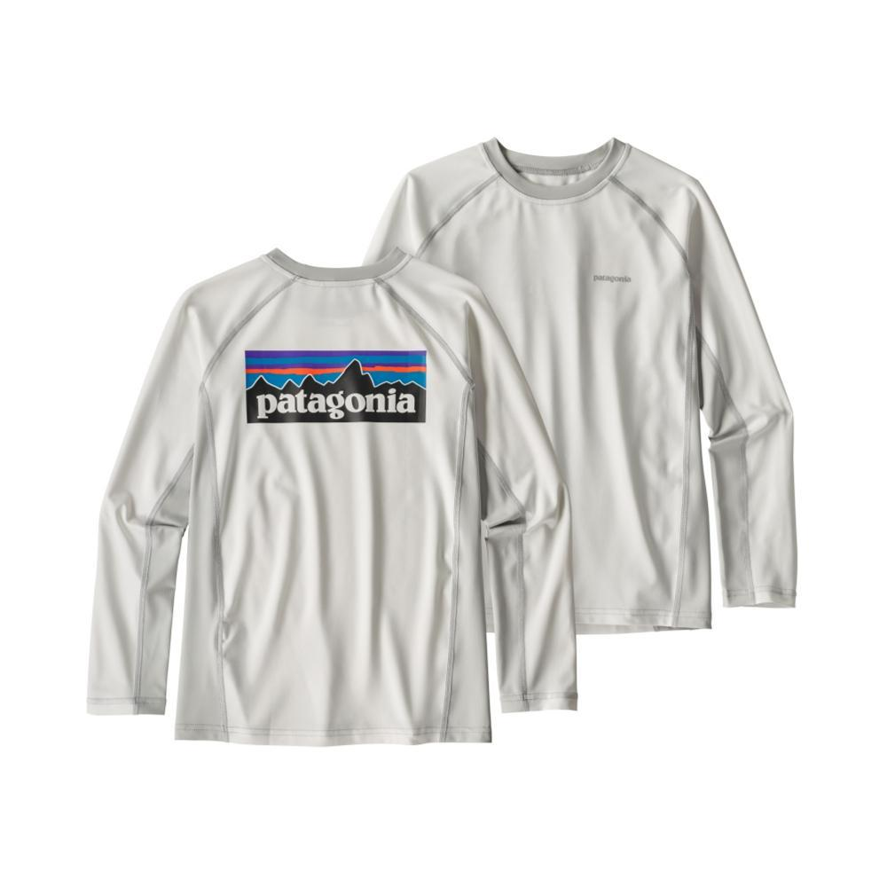 Patagonia Boys Long-Sleeved Silkweight Rashguard WHT_WTGY