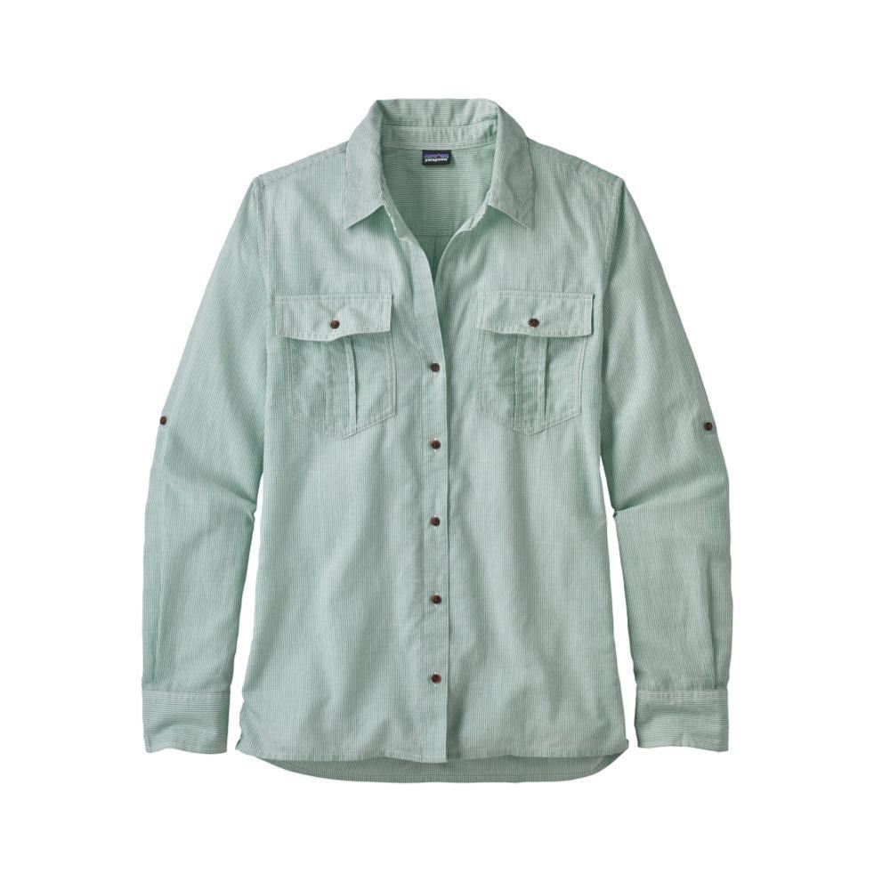 Patagonia Women's Lightweight A/C Long-Sleeved Buttondown Shirt SPIB_GREEN