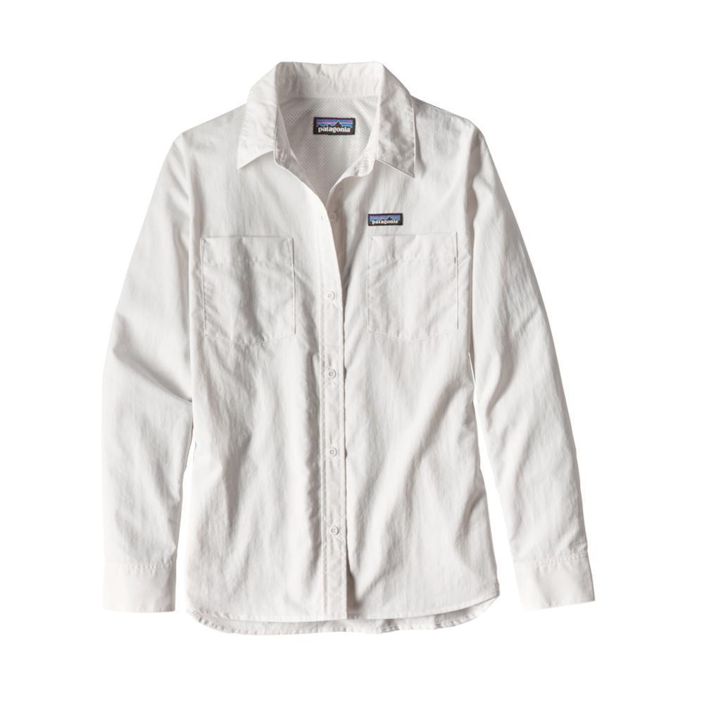 Patagonia Women's Long-Sleeved Anchor Bay Shirt WHI_WHT