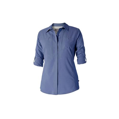 Royal Robbins Women's Expedition Chill Long Sleeve Shirt Blueindi