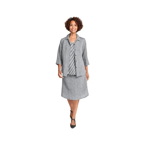 FLAX Women's In-Line Blouse COAL