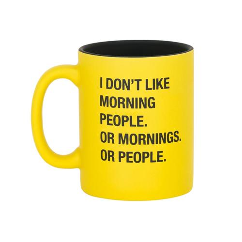 About Face Designs I Don't Like Morning People Mug .