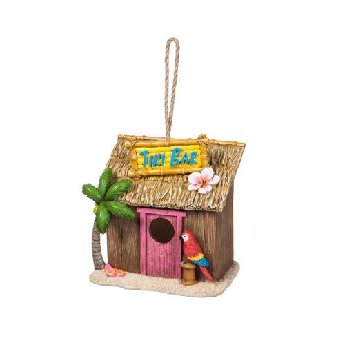 Evergreen Tiki Bar Hanging Bird House .