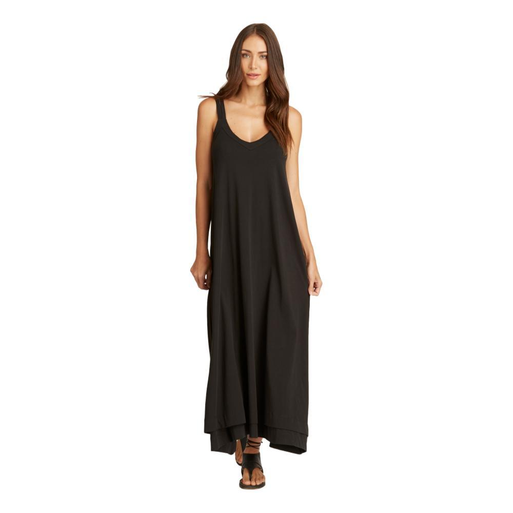 Indigenous Designs Women's Double Strap Maxi Dress BLACK