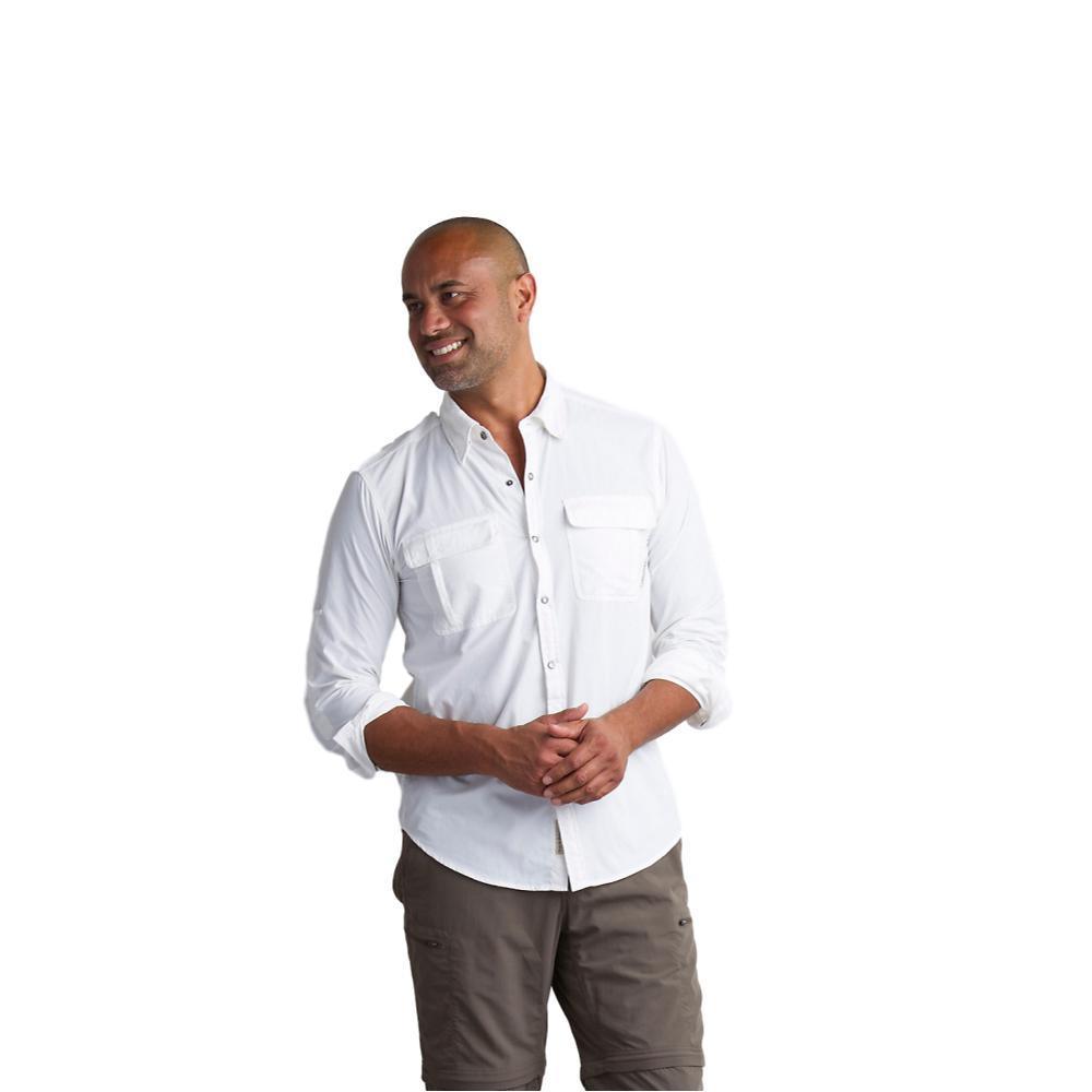 ExOfficio Men's BugsAway Halo Long Sleeve Shirt WHITE