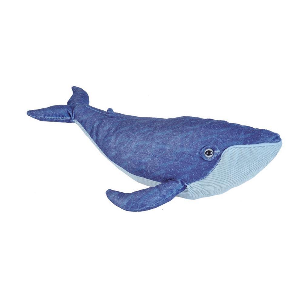 Wild Republic Cuddlekins 15in Blue Whale Stuffed Animal WHITE