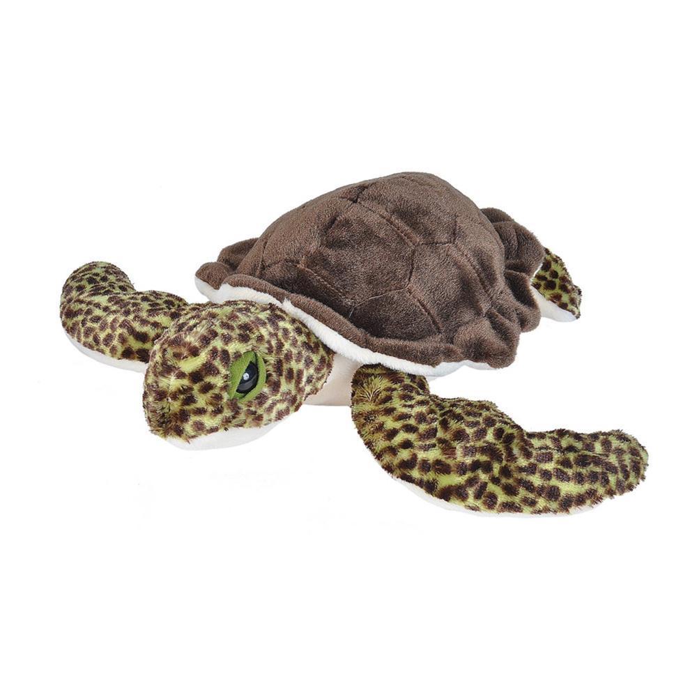 Wild Republic Cuddlekins 15in Baby Sea Turtle Stuffed Animal GREEN