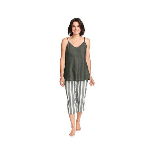 FLAX Women's Shirttail Crop Pants Herbstr