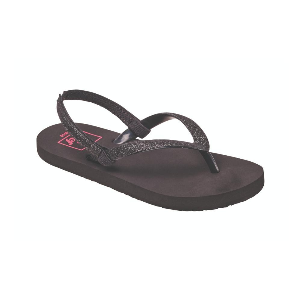 Reef Girls Little Stargazer Sandals BLACK_BK2