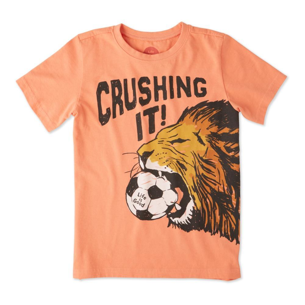 Life is Good Kids Crushing It Soccer Crusher Tee FRSHCORAL