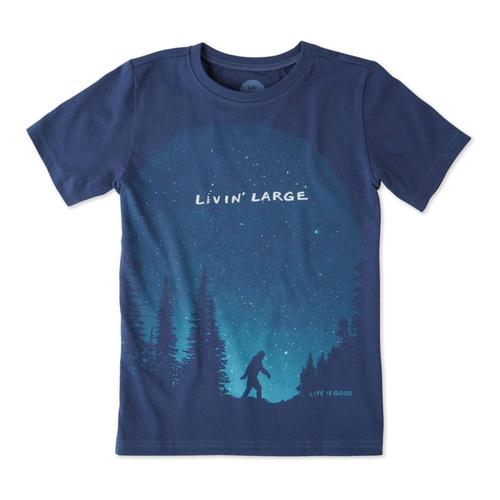 Life is Good Kids Living Large Sasquatch Crusher Tee