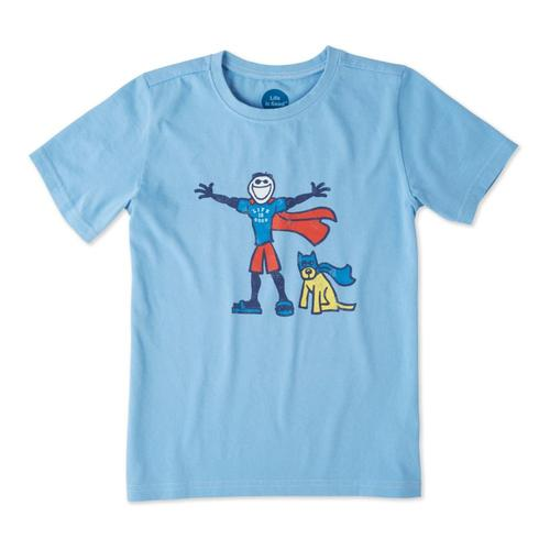 Life is Good Boys Superhero Jake And Rocket Crusher Tee
