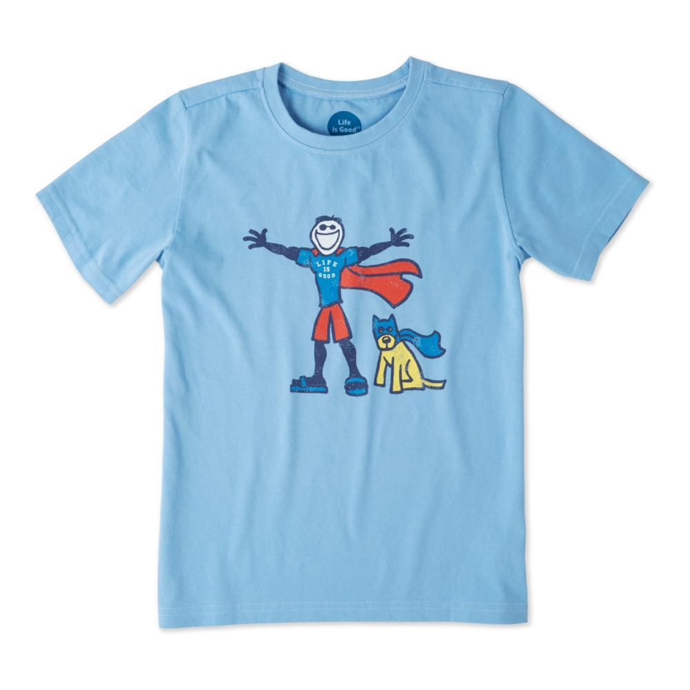 Life is Good Boys Superhero Jake And Rocket Crusher Tee POWDBLU