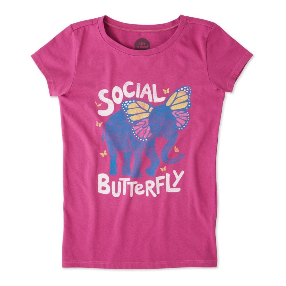 Life is Good Girls Social Butterfly Crusher Tee SASSYMGNTA