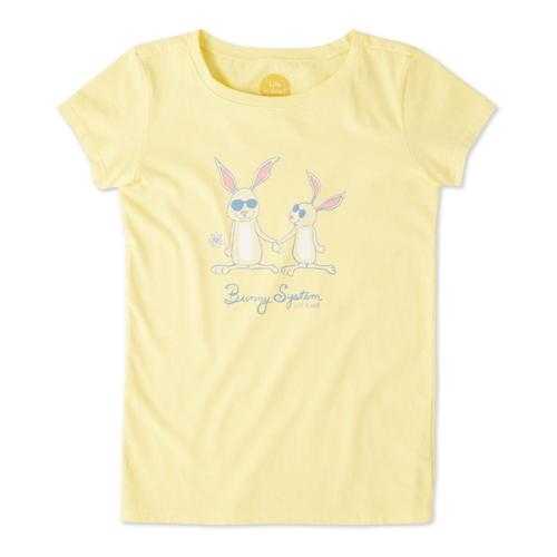 Life is Good Girls Bunny System Crusher Tee