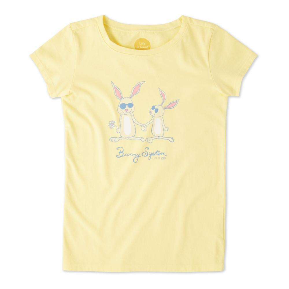 Life is Good Girls Bunny System Crusher Tee HAPPYELOW