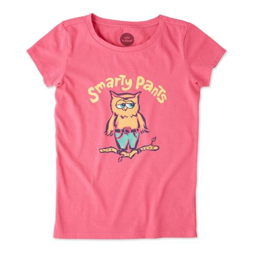 Life is Good Girls Smarty Pants Crusher Tee