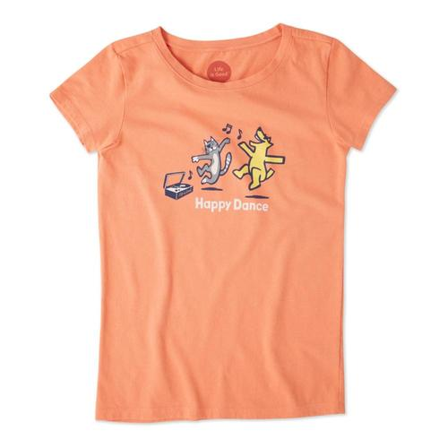 Life is Good Girls Happy Dance Crusher Tee Frshcoral