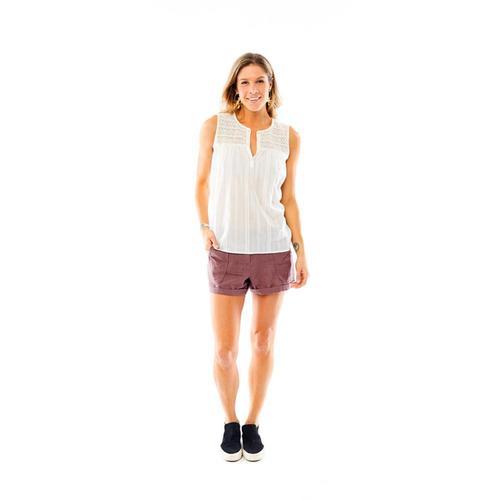 Carve Designs Women's Allison Sleeveless Shirt White