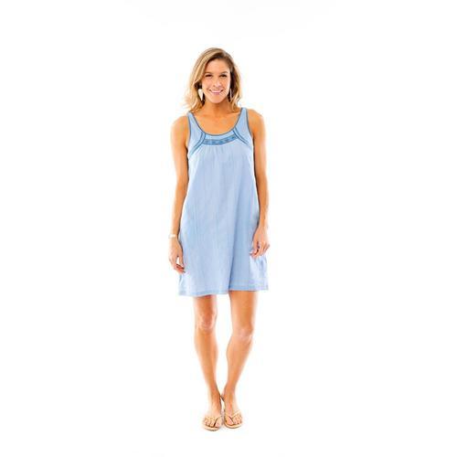 Carve Designs Women's Brooke Dress Chambray