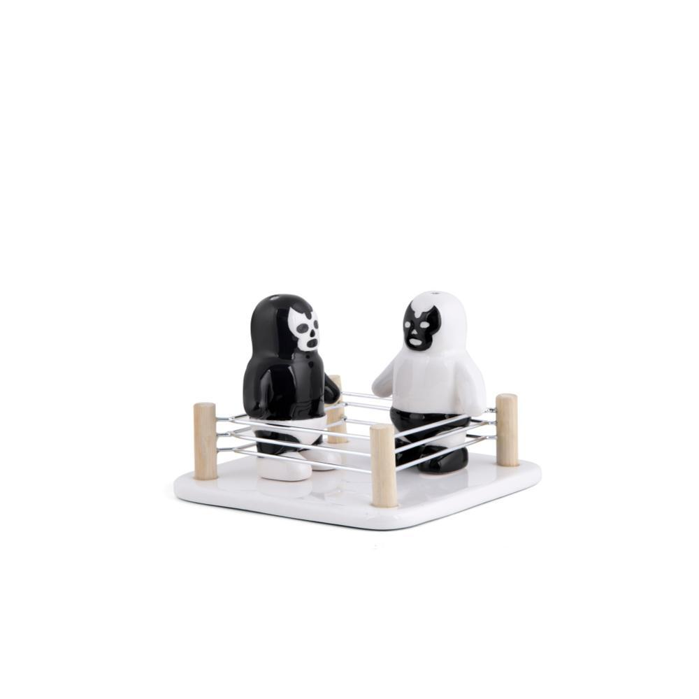 Kikkerland Design Luchador Salt Vs Pepper Shakers