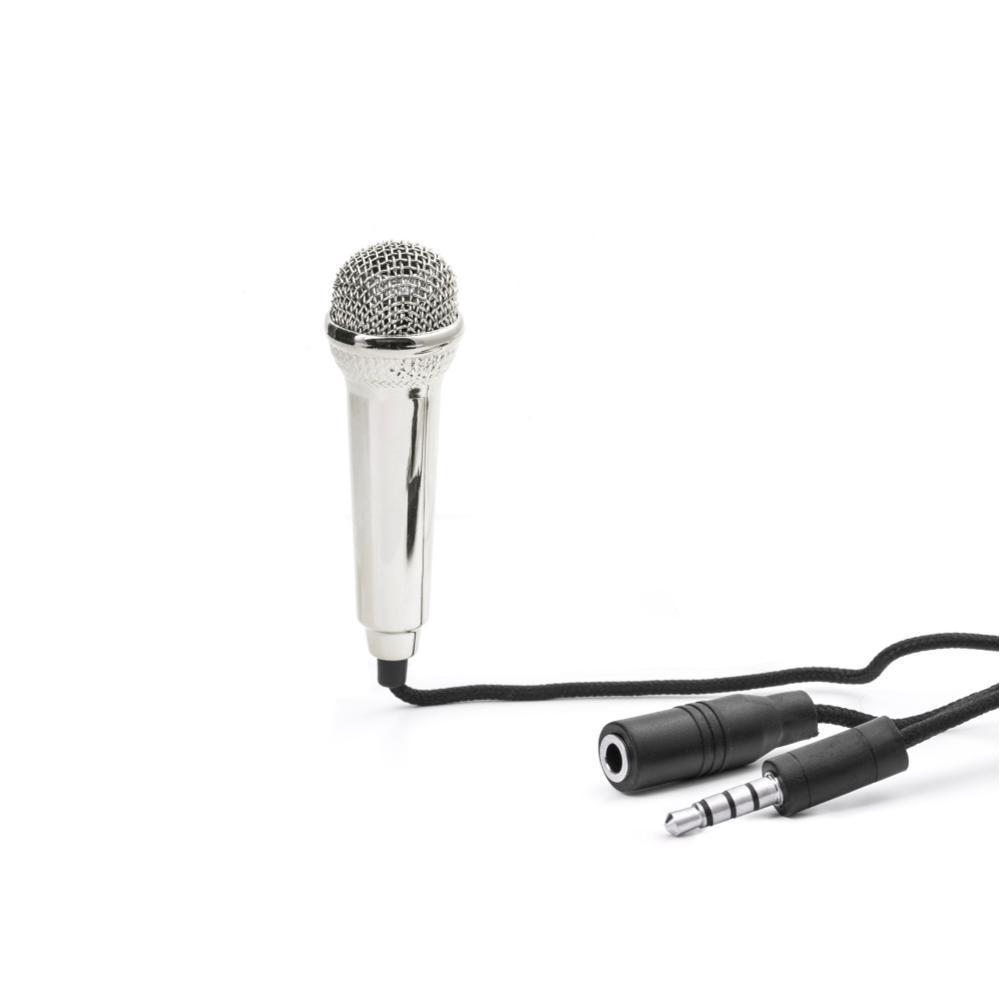 Kikkerland Design Mini Karaoke Microphone SILVER