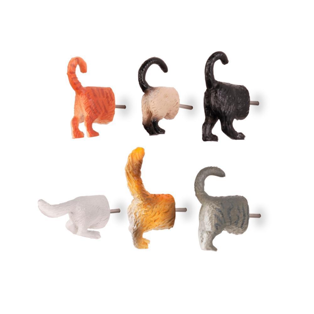 Kikkerland Design Cat Butt Push Pins SETOF6