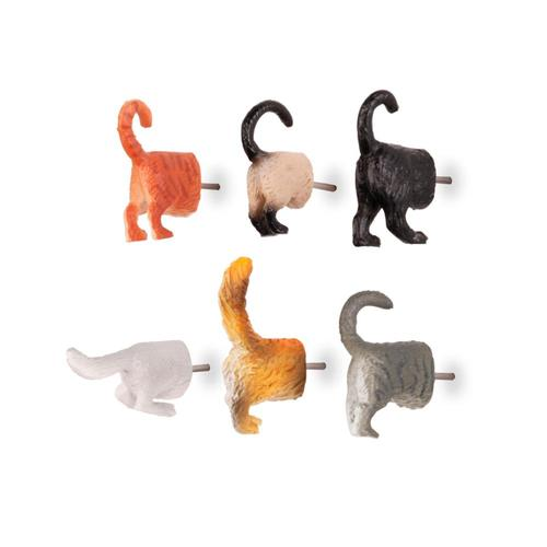 Kikkerland Design Cat Butt Push Pins Setof6