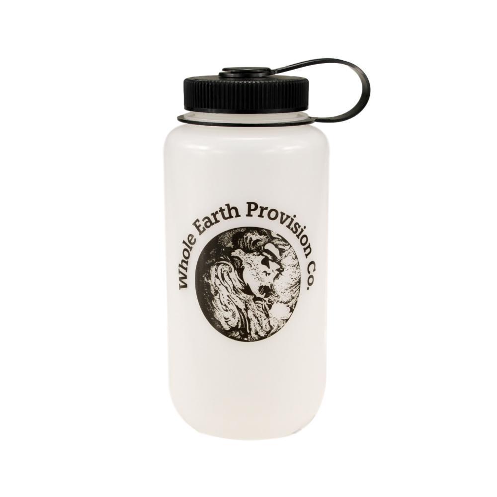 Nalgene Whole Earth HDPE Wide-Mouth Bottle 32oz WHITE.BTL_BLK_CAP
