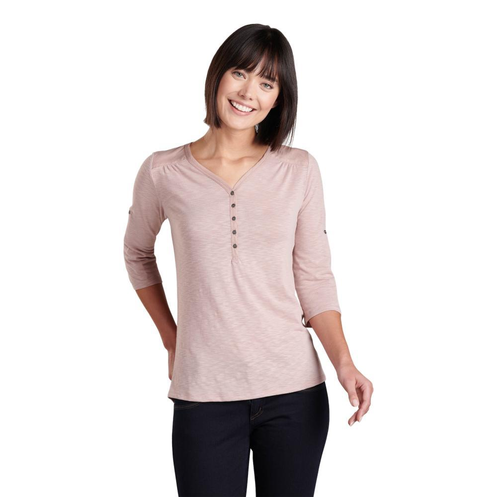 KUHL Women's Shasta 3/4 Sleeve Shirt PALEPINK