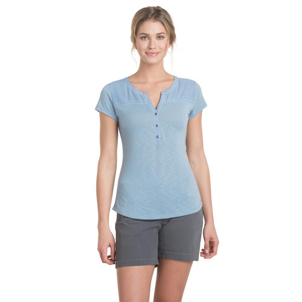 KUHL Women's Virtue Short Sleeve Shirt BELLFLOWER