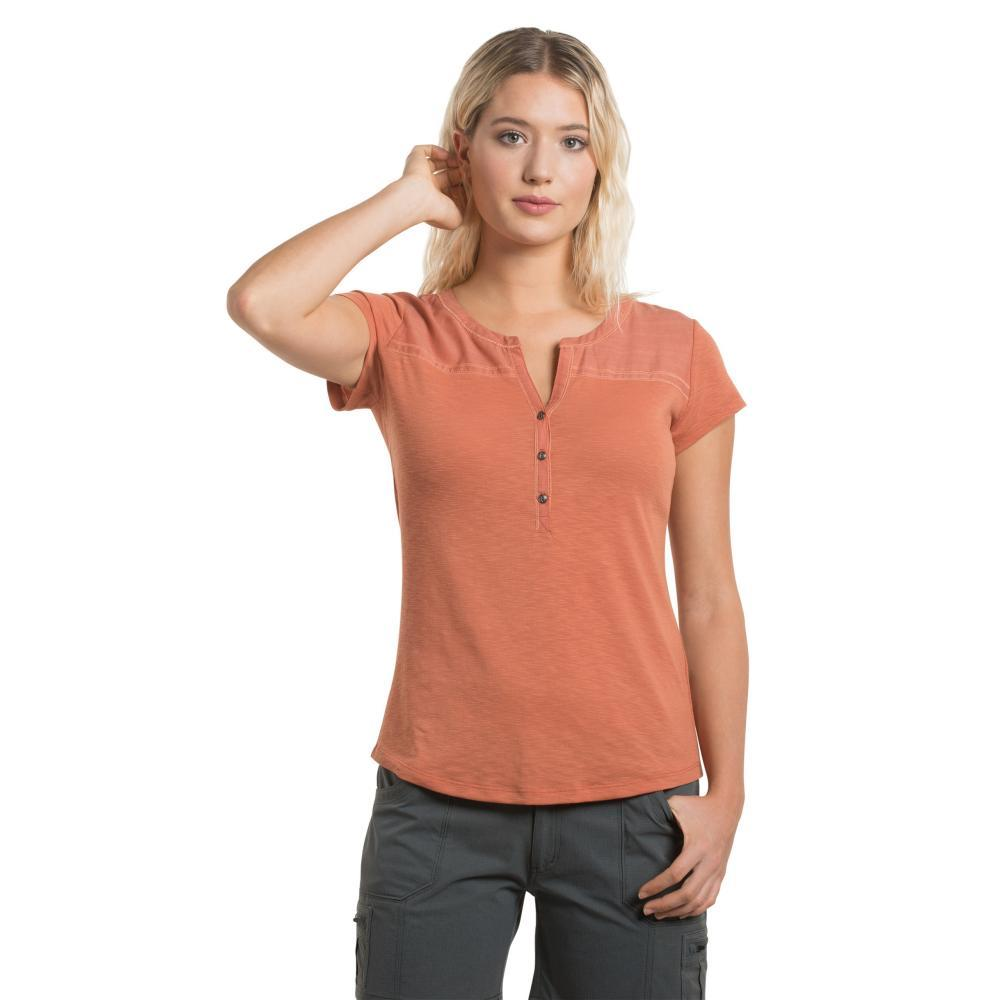 KUHL Women's Virtue Short Sleeve Shirt TUSCANY