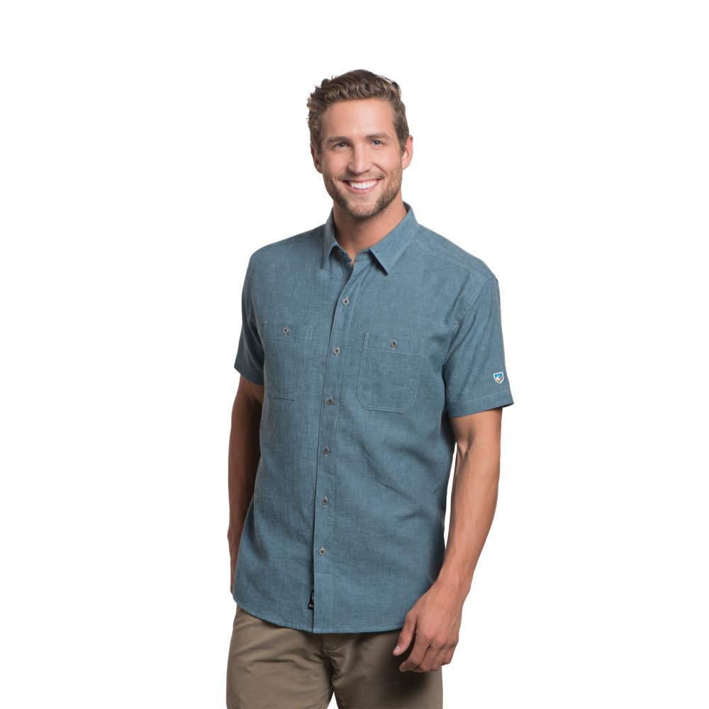 KUHL Men's Skorpio Tapered Short Sleeve Shirt DUSKBLUE