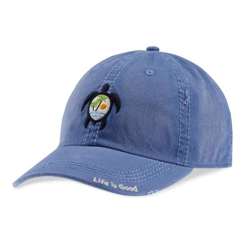 Life is Good Sea Turtle Scene Sunwashed Chill Cap