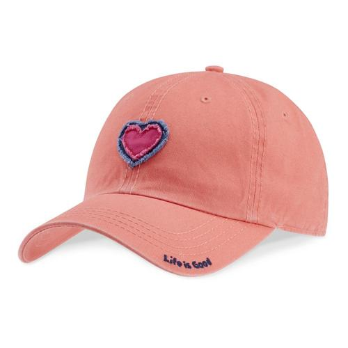 Life is Good Daisy Heart Tattered Chill Cap