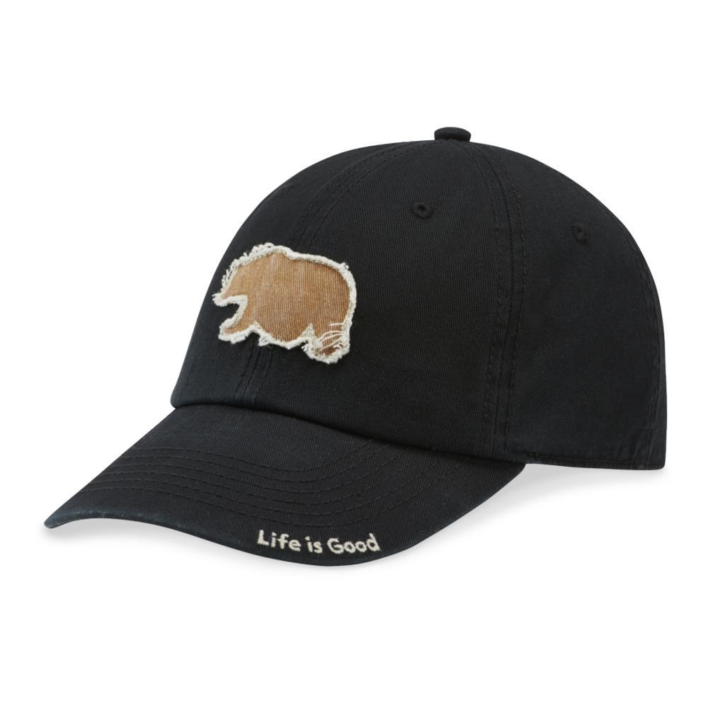 Life is Good Wander Bear Type Tattered Chill Cap NIGHTBLACK
