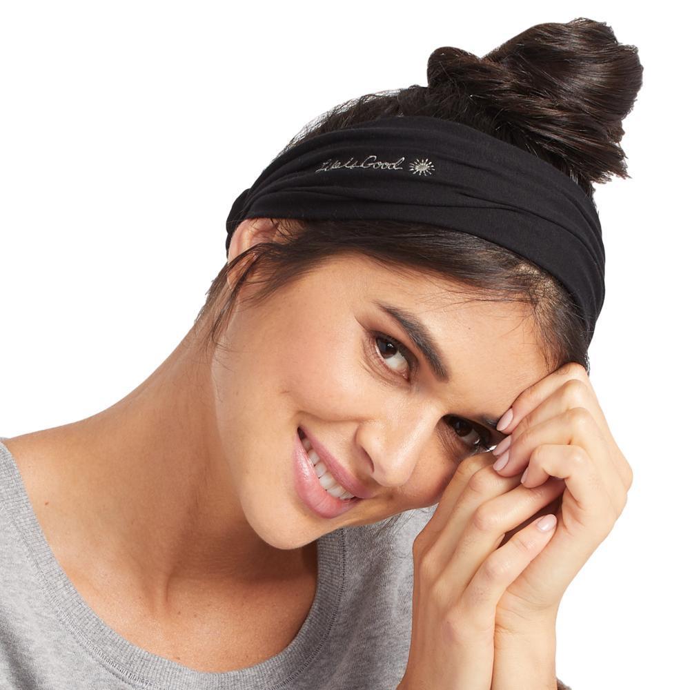 Life is Good Lotus LIG Happy Headband NIGHTBLACK