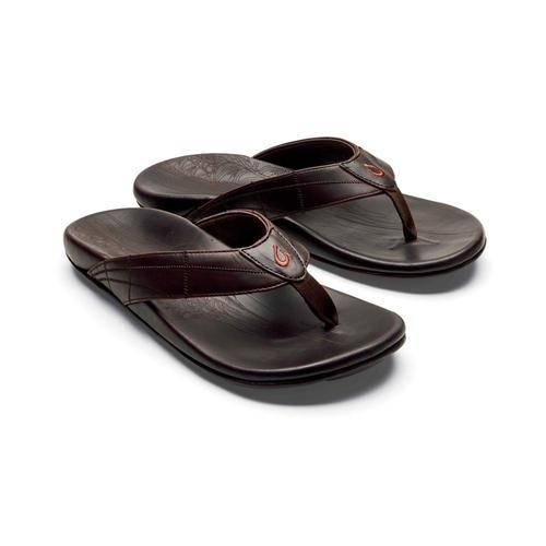 OluKai Men's Hokule'a Kia Leather Sandals