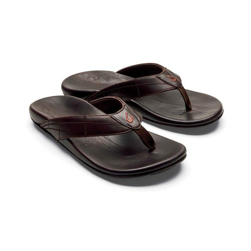 OluKai Men's Hokule'a Kia Leather Sandals Dkwd.Dkwd_6363