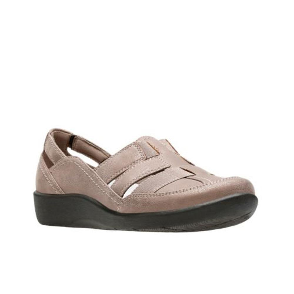 Clarks Women's Sillian Stork Shoes PEWTER