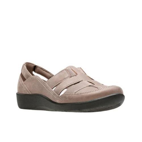 Clarks Women's Sillian Stork Shoes Pewter